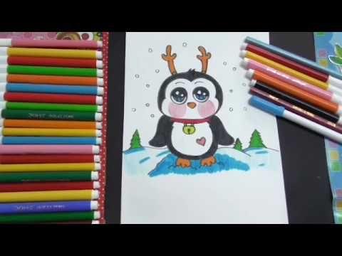رسم بطريق كيوت سهل جدا للاطفال Youtube