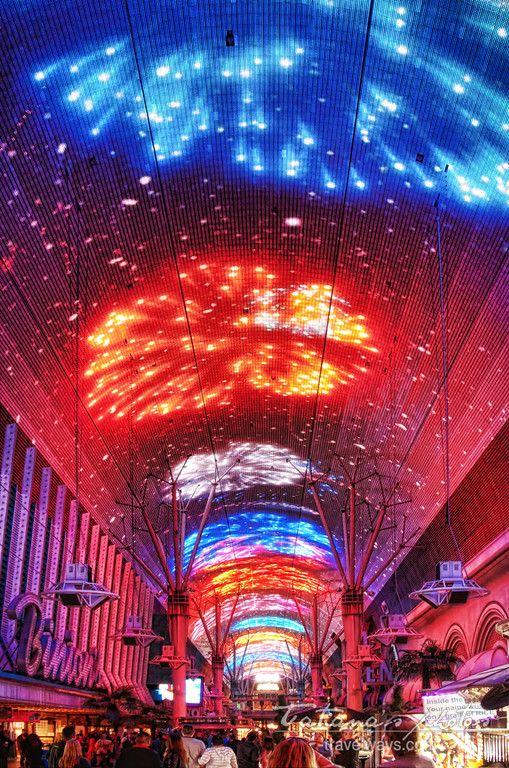 Fireworks at Fremont Street Experience, Las Vegas (Viva Vision Light Show_