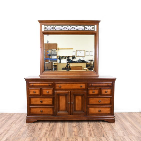 This  Alexander Julian Home  dresser is featured in a solid wood with a  glossy. Alexander Julian Home  Dresser   Mirror   Cherries  Clothing and