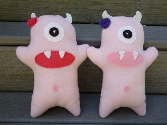 Stuffed Girl Monster Plush Monster Toy for by FranconiaRidgeStudio, $13.00