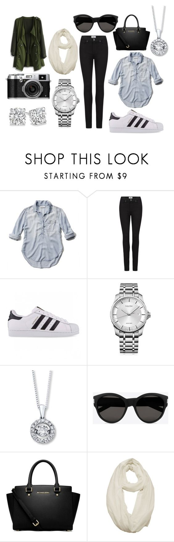 """tour day project 3"" by sarasv on Polyvore featuring Abercrombie & Fitch, Paige Denim, adidas Originals, Calvin Klein, Yves Saint Laurent, MICHAEL Michael Kors and Chicwish"