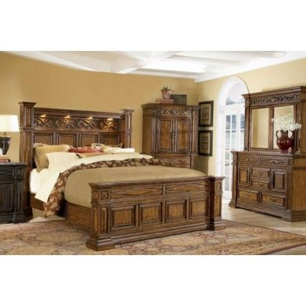 A R T Marbella Toffey King Bed Bedroom Frame Gallery Furniture For The Cottage Pinterest