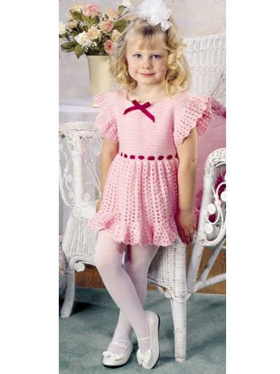 "Cute as a button is how your little lady will look in this charming dress. Size: 18 months (2, 3). Chest: 21"" (23"", 25"").Finished length: 14"" (17"", 20"").Skill Level: Intermediate. FP 2/15:"