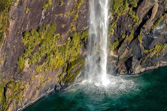 In A Faraway Land - Aerial view of Stirling Falls