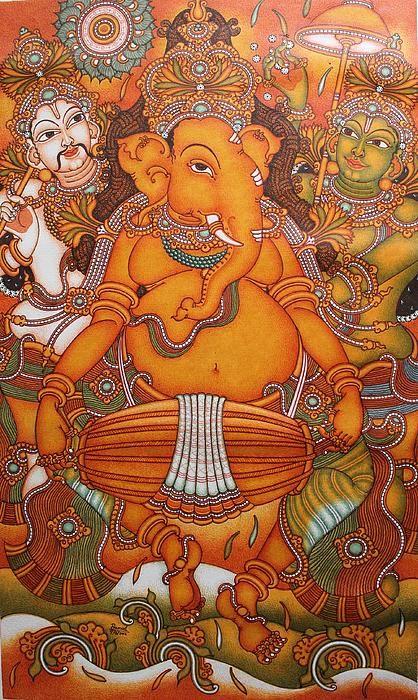 Ganesha shri ganesh and ganesh on pinterest for Mural ganesha