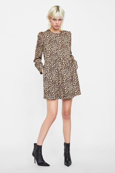 Vestido Estampado Animal En 2019 Vestidos Animal Print