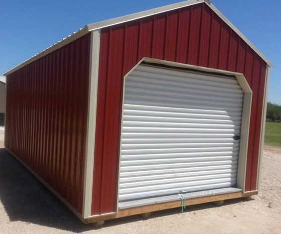 Portable Metal Barns : Derksen portable metal garage storage building visit