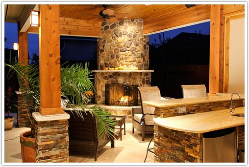 Outdoor Fireplace Design Ideas outdoor fireplace interior design ideas outdoor fireplace design Granite Outdoor Fireplace Outdoor Fireplace Design Ideas To Heat Up Your Bay Area Backyard