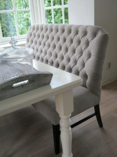 Great bench and a nice change from regular dining chairs #room17