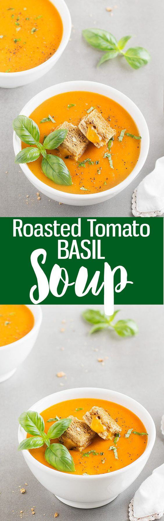 Roasted tomato basil soup, Tomato basil soup and Roasted tomatoes on ...