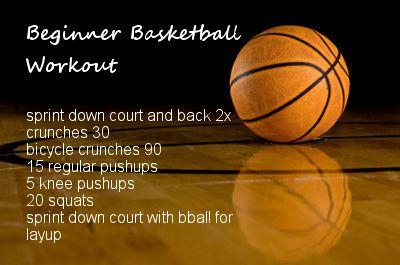 Beginner Basketball Workout