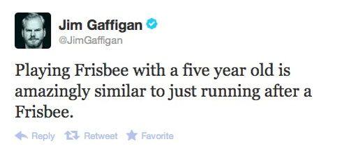 Gaffigan-Frisbee tweet.