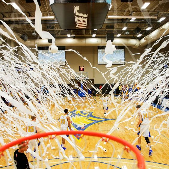 One of the most surreal traditions in sports happened last month, on Halloween no less. It involved 2,000 rolls of toilet paper at John Brown University.