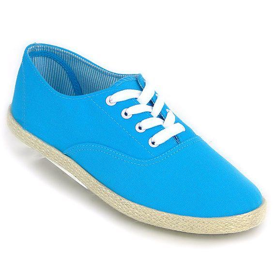 Damen Sneakers Sneakers low - Blau - Vione von  in deepskyblue - tiefes Himmelblau für 10,90€
