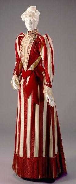 c.1890 Silk Afternoon Dress: Bodice and Skirt: designer/maker John Shillito Co. (estab. 1840),: