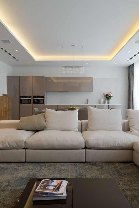 Indirect lighting in tray or coffered ceiling. • high-output led ...