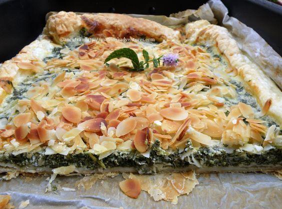 Torta corsa alle erbette e mandorle  http://matrioskadventures.com/2012/08/21/torta-salata-alle-erbette-ricetta-corsa/
