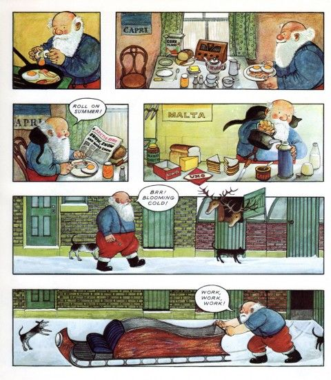 Raymond Briggs The Snowman Christmas Tree Decorations: Father Christmas, Storyboard And On Holiday On Pinterest
