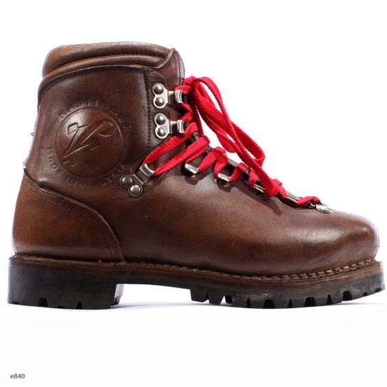 leather hiking boots vintage 90s austrian alpine