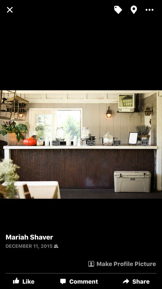 Drink station-southern rustic