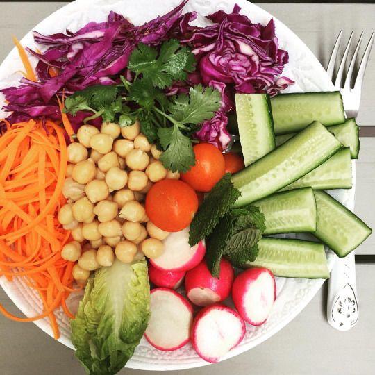 vitalityandmore  All Organic Chickpea & Salad Bowl