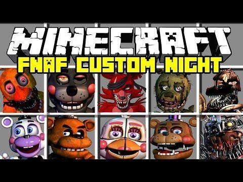 Minecraft Fnaf Ultimate Custom Night Mod Freddy Foxy Funtime Chica Fnaf Mini Games Minecraft Mods