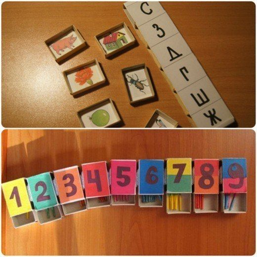 Развивающие игры со спичечными коробками... фото #1