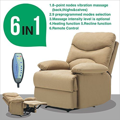 Microfiber Massage Recliner Sofa Chair Ergonomic Lounge Heated W Control Comfy Sofa Chair