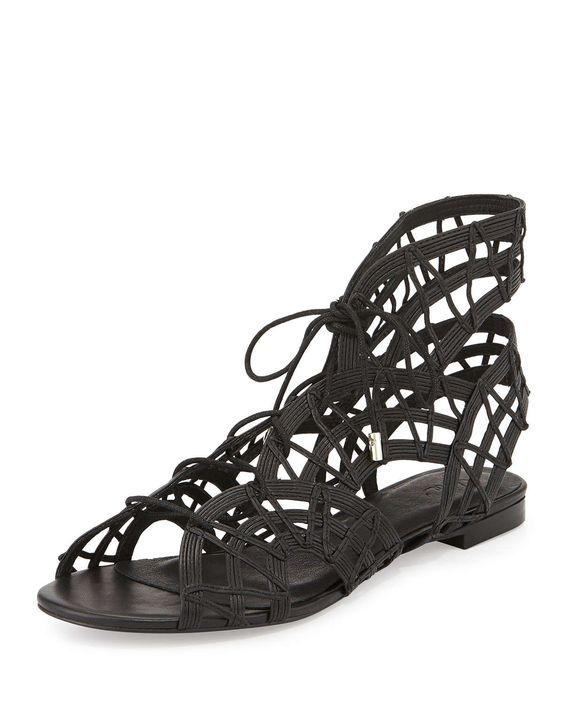 Renee Lace-Up Gladiator Sandal, Black