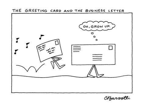 The Greeting Card And The Business Letter