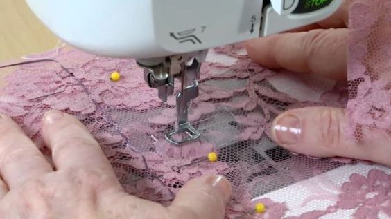 Watch this Threads Essential Techniques video to learn two ways of sewing nearly invisible seams in sheer lace fabric.