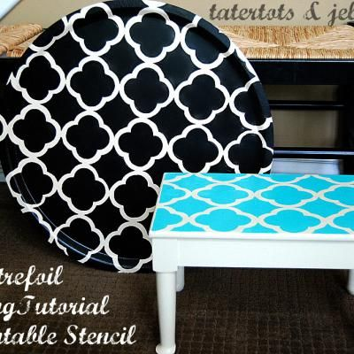 Printable Stencil for a Furniture Makeover