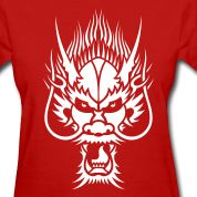 Chinese Dragon Head 1 Women's T-Shirts Design