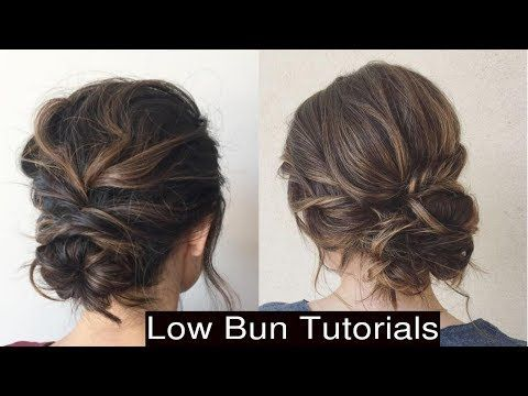 How To Style Cute Low Messy Bun Updo Hairstyles Youtube Messy Bun Updo Easy Bun Hairstyles Loose Bun Hairstyles