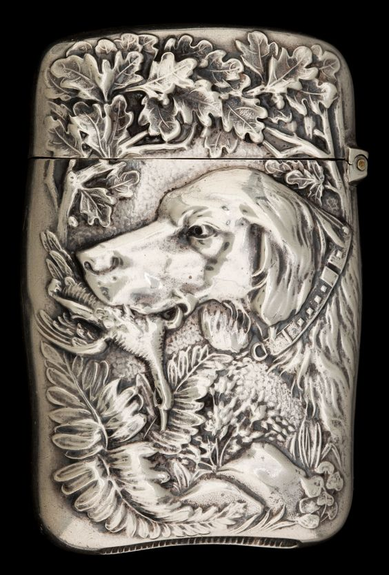 Match safe by R. Wallace & Sons, Mfg, ca.1900. Silver