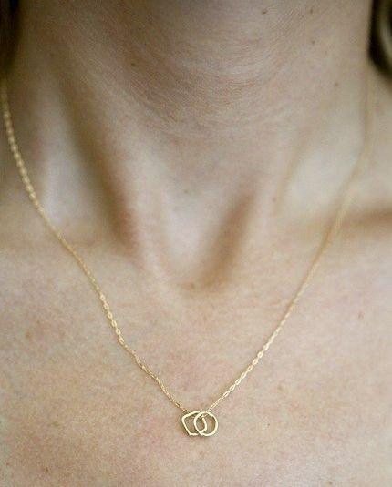 Moderne geometrische Halskette Federgewicht Halsband von annekiel