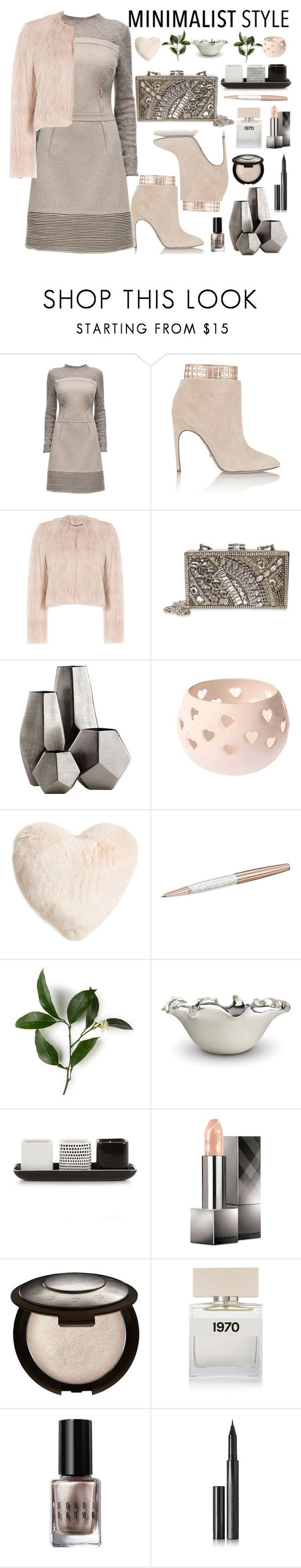 """""""Minimalist Style"""" by sneky ❤ liked on Polyvore featuring Lattori, Sergio Rossi, RED Valentino, Mary Frances Accessories, Cyan Design, Nordstrom, Swarovski, L'Objet, Betty Jackson and Burberry"""