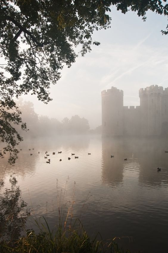 Photograph Stunning moat and castle in Autumn Fall sunrise with mist over m by Matt Gibson on 500px: