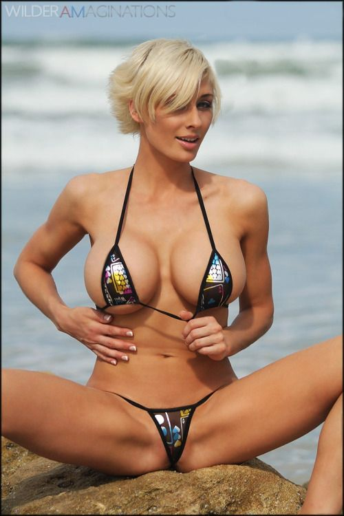 Big boob girls in thong bikini
