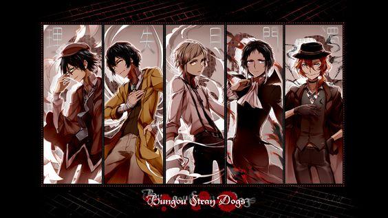 Anime Bungou Stray Dogs Chuya Nakahara Atsushi Nakajima Ranpo Edogawa Osamu Dazai Wallpaper