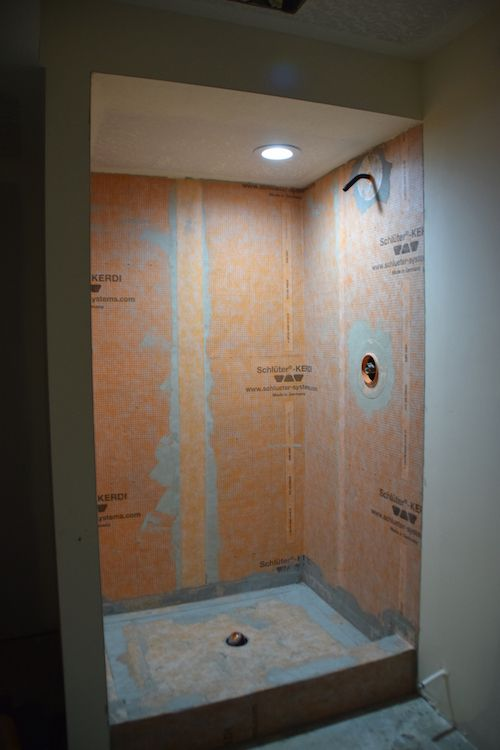 How To Tile A Basement Shower With Images Small Bathroom