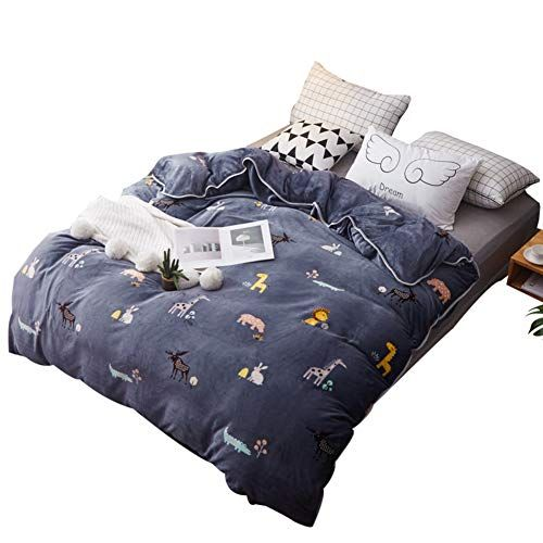 Xmzddz Flannel Simple Duvet Cover Comfortable Oversized Breathable Thicken Quilt Cover Hypoallergenic Bedding Singl Simple Duvet Cover Quilt Cover Single Quilt