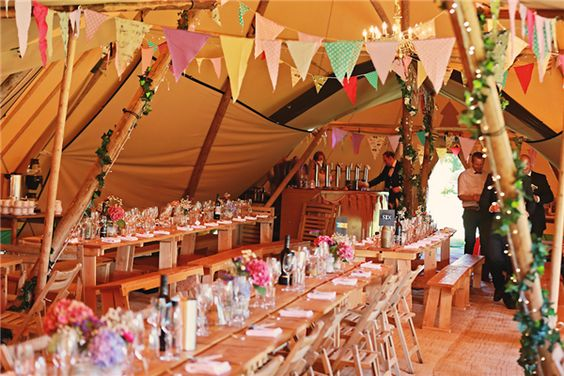 Mr & Mrs Unique :: Wedding Tipi :: Wedding Tipi specialises in providing giant Nordic tipi's and Bedouin stretch tents for weddings, corporate events and parties.