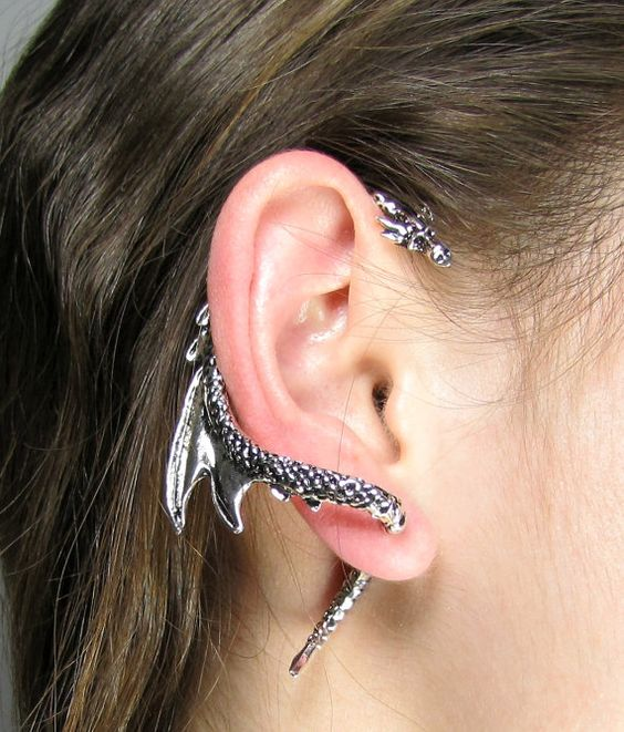 Ear cuff earrings game of and daenerys targaryen on pinterest - Game of thrones dragon ear cuff ...