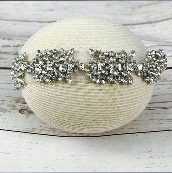 A wishing start  bridal headband by ModernBrideCo on Etsy