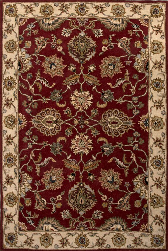 Poeme PM114 Valence Red / Soft Gold Rug