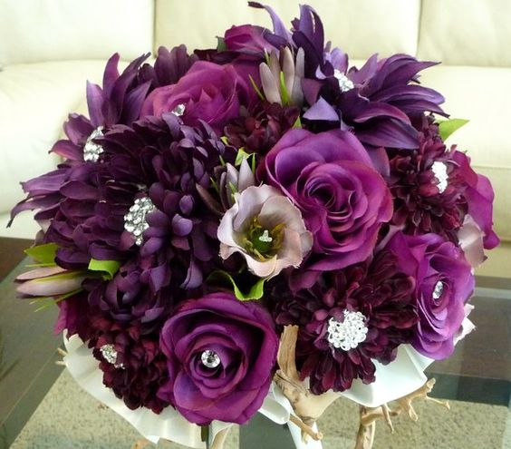 Purple Bridal Bouquet with an attitude!!!: