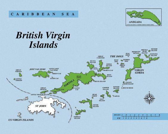Map Of Salt Island And Cooper Island British Virgin Island - Map of the virgin islands british and us