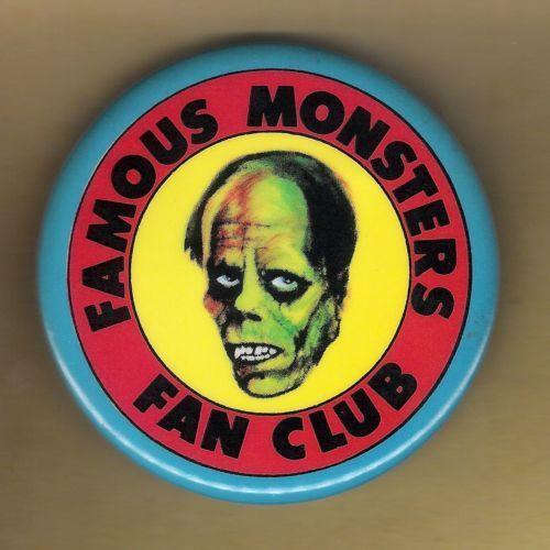 Vintage Pinback Button Pin Political Badge 1960s Famous Monsters Fan Club Pinbacks Pinterest