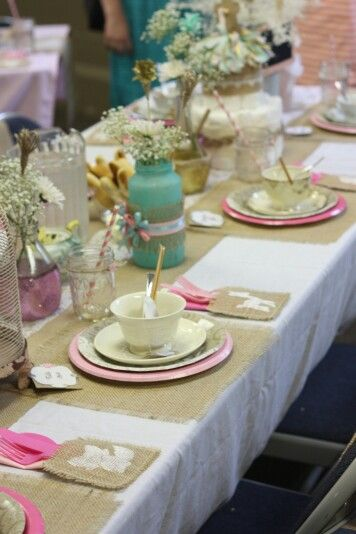 My baby shower, complete with vintage tea cup favors